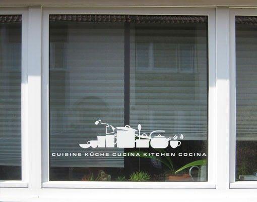Fensterfolie - Fenstertattoo No.UL926 KüchenSilhouettte - Milchglasfolie