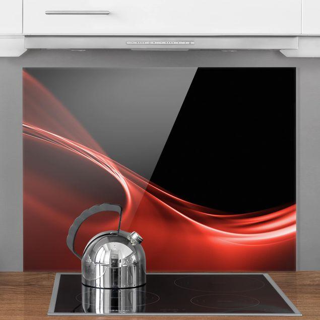 Glas Spritzschutz - Red Wave - Querformat - 4:3