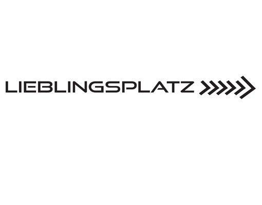 Wandtattoo Sprüche - Wandworte No.KA2 Lieblingsplatz