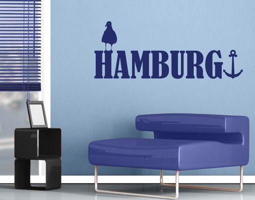 Wandtattoo Sprüche - Wandworte No.JS25 Hamburg