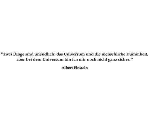 Wandtattoo Zitate - Wandzitate No.TO8 Albert Einstein