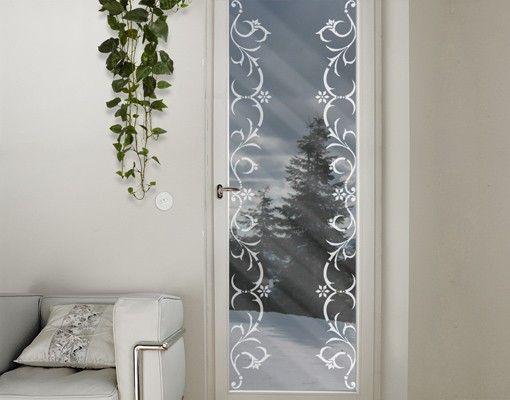 Fensterfolie - Fenstertattoo Bordüre No.CA16 Winterbordüre - Milchglasfolie