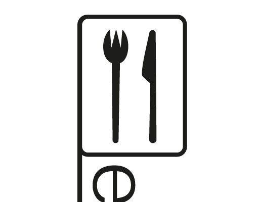 Wandtattoo Sprüche - Wandworte No.FB178 Pictogram Eating