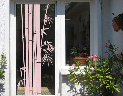 Fensterfolie - Fenstertattoo No.UL959 Bambus III - Milchglasfolie