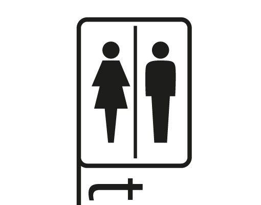 Wandtattoo Sprüche - Wandworte No.FB179 Pictogram Toilets