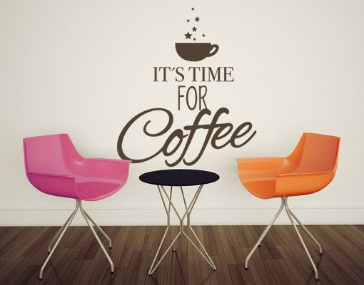 Wandtattoo Sprüche No.EV34 Time for Coffee