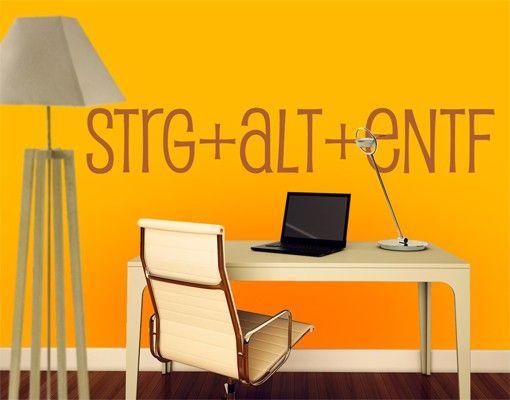 Wandtattoo Sprüche - Wandworte No.EK22 STRG+ALT+ENTF