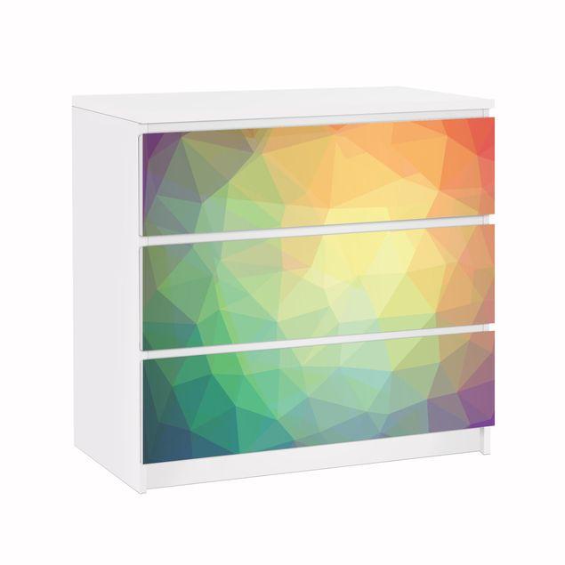 Möbelfolie für IKEA Malm Kommode - Klebefolie No.RY32 Triangular