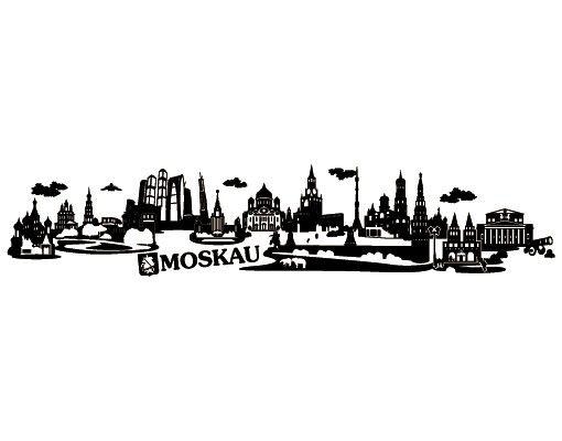 Wandtattoo Skyline No.JR34 Moskau Skyline