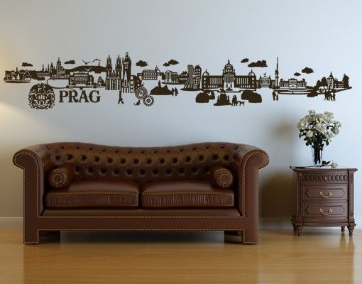 Stadt Prag - Wandtattoo Skyline - No.JR35 Prag Skyline
