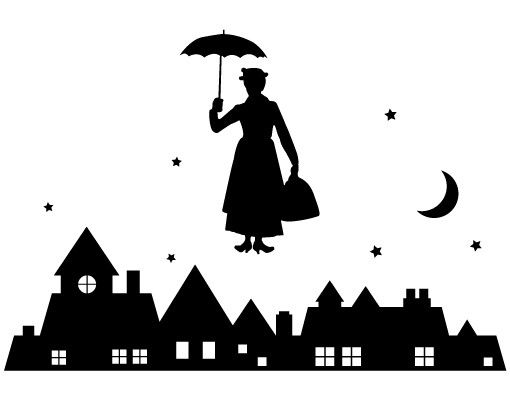 Wandtattoo Babyzimmer No.JS90 Mary Poppins