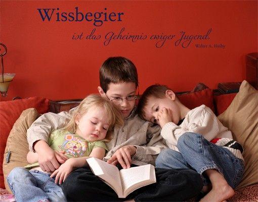 Wandtattoo Kinderzimmer Zitate - Wandzitate No.CG215 Wissbegier