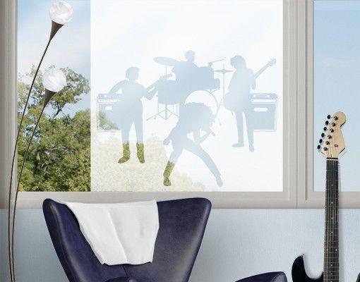 Fensterfolie - Sichtschutzfolie Tattoo No.CA5 The Band II - Milchglasfolie