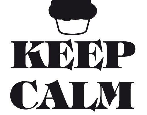 Wandtattoo Sprüche - Wandsprüche No.EV71 Keep Calm And Eat A Cupcake