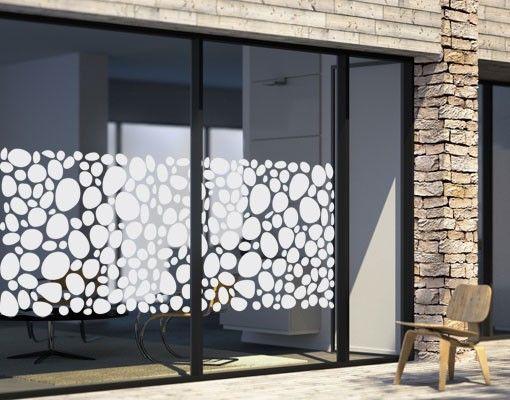 Fensterfolie - Sichtschutzfolie No.UL973 Kieselsteine I - Milchglasfolie