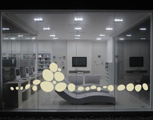 Fensterfolie - Fenstertattoo No.UL976 Kieselsteine - Milchglasfolie