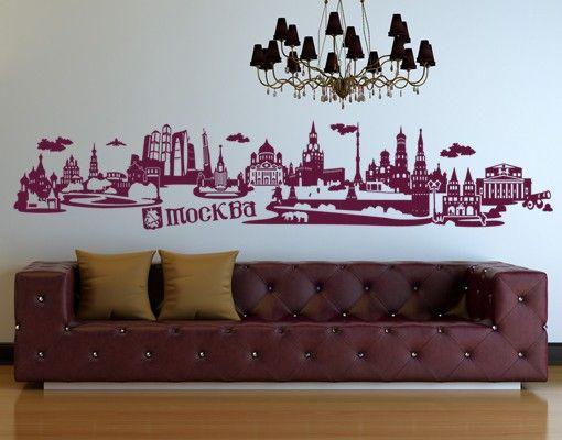 Wandtattoo Skyline No.JR43 Moskau russisch Skyline