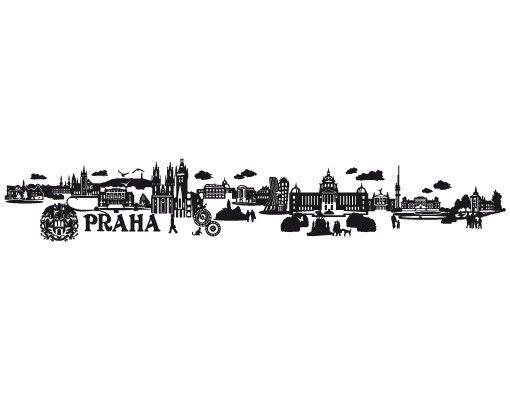 Wandtattoo Skyline No.JR44 Prag tschechisch Skyline
