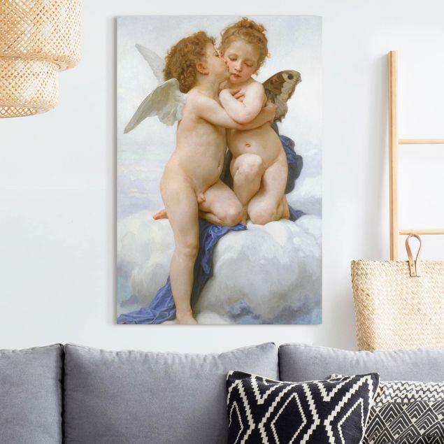 Leinwandbild - William Adolphe Bouguereau - Der erste Kuss - Hochformat 3:2
