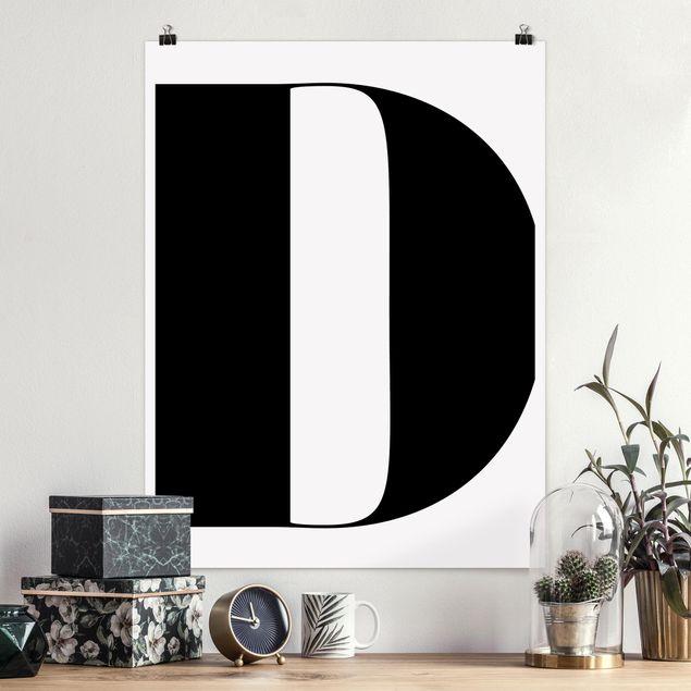 Poster - Antiqua Letter D - Hochformat 3:4