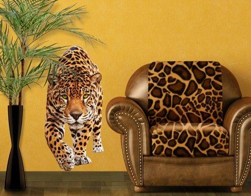 Wandtattoo Tiger Löwe No.648 Creeping Jaguar
