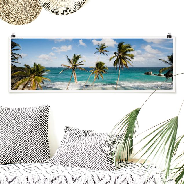 Poster - Beach of Barbados - Panorama Querformat