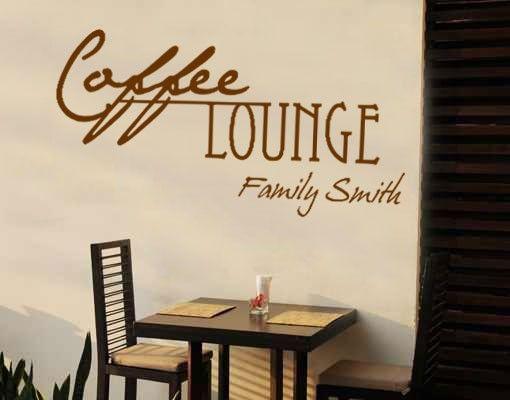 Wandtattoo Sprüche - Wandtattoo Namen No.CA27 Wunschtext Coffee Lounge