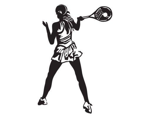 Wandtattoo No.UL981 Tennisspielerin