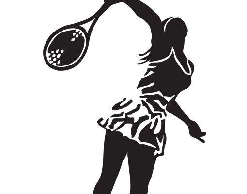 Wandtattoo No.UL983 Tennisspielerin III