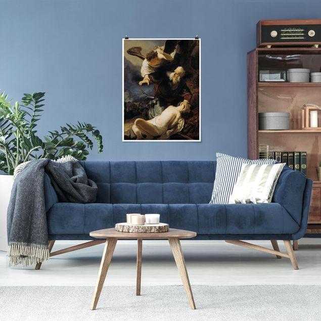 Poster - Rembrandt van Rijn - Die Opferung Isaaks - Hochformat 3:4