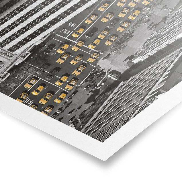 Poster - Taxiverkehr in Manhattan - Quadrat 1:1