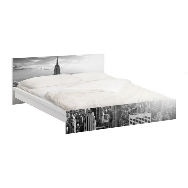 Möbelfolie für IKEA Malm Bett niedrig 160x200cm - Klebefolie No.34 Manhattan Skyline Panorama