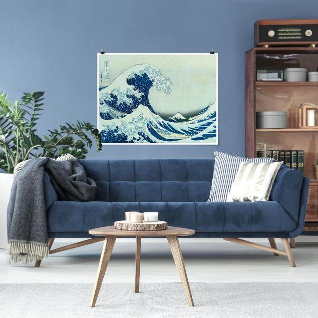 Poster - Katsushika Hokusai - Die grosse Welle von Kanagawa - Querformat 3:4