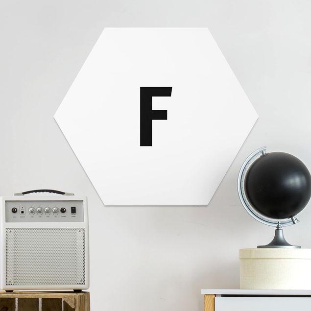 Hexagon Bild Forex - Buchstabe Weiß F