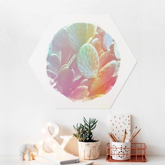 Hexagon Bild Forex - Wasserfarben - Feigenkaktus