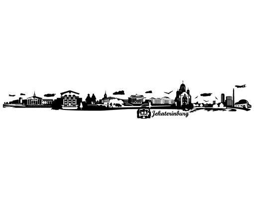 Wandtattoo Skyline No.JR157 Jekaterinburg Skyline