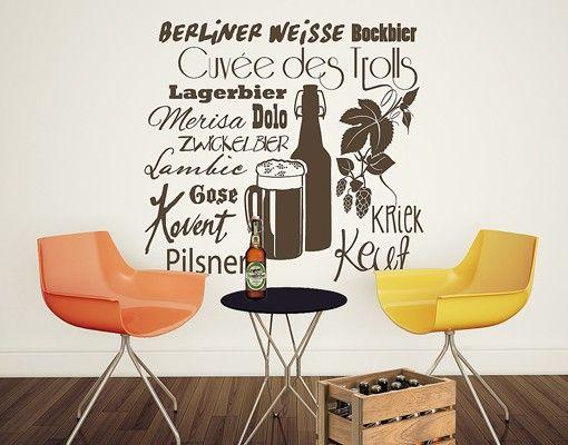 Wandtattoo Sprüche - Wandworte No.EV95 Biersorten