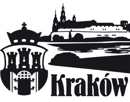 Stadt Krakau - Wandtattoo Skyline - No.JR46 Krakau polnisch Skyline