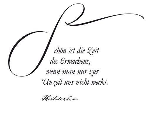 Wandtattoo Zitate - Wandzitate No.UL988 Erwachen