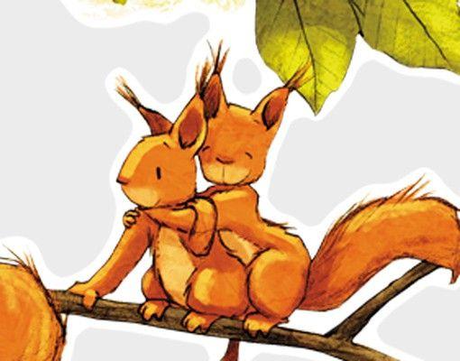 Wandtattoo Einhörnchen jubeln