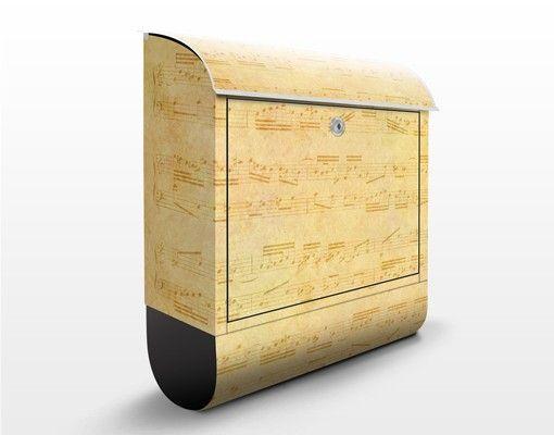 Briefkasten Vintage - Die Musik vergangener Tage - Briefkasten mit Zeitungsrolle