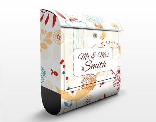 Briefkasten mit Zeitungsfach - Wunschtext Spring Garden