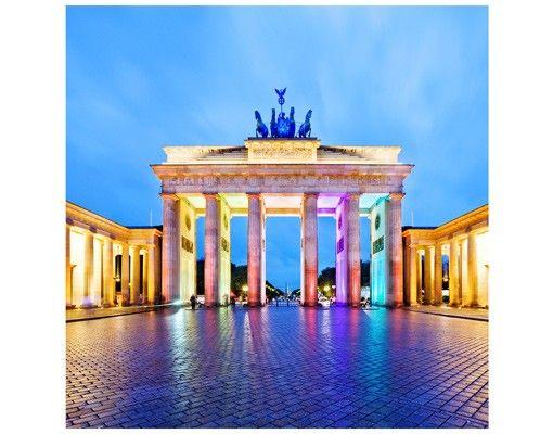 Beistelltisch - Erleuchtetes Brandenburger Tor