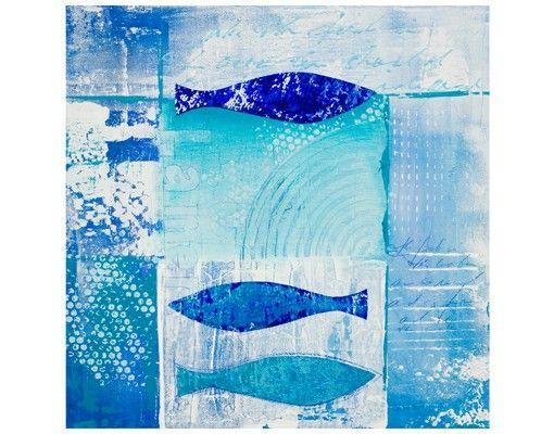 Beistelltisch - Fish in the blue