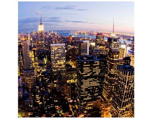 Beistelltisch - New York Skyline bei Nacht