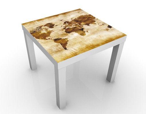 Beistelltisch - Map of the World