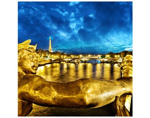 Beistelltisch - Goldenes Paris