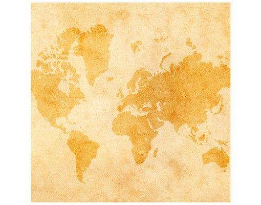 Beistelltisch - Vintage Weltkarte