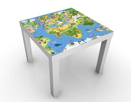 Beistelltisch - Great and Funny Worldmap