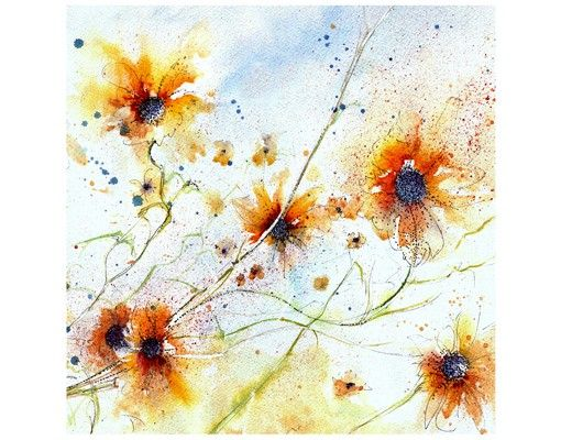 Beistelltisch - Painted Flowers